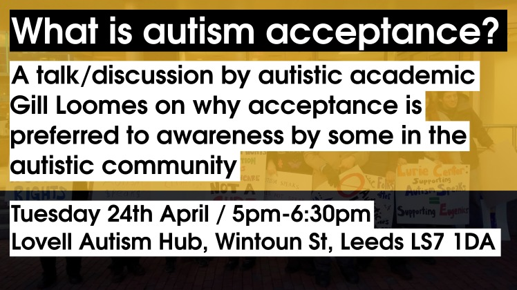What is autism acceptance? - Intro slide