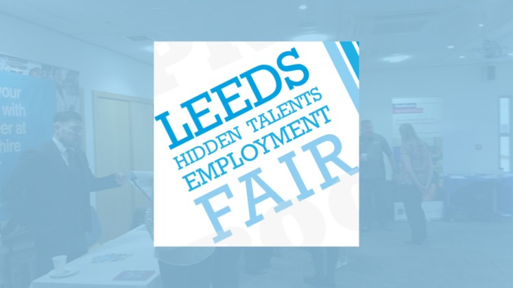Leeds Hidden Talents Employment Fair - logo on blue background